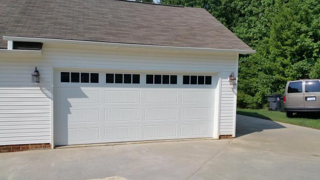 White Garage Doors by All American Overhead in Wendell NC