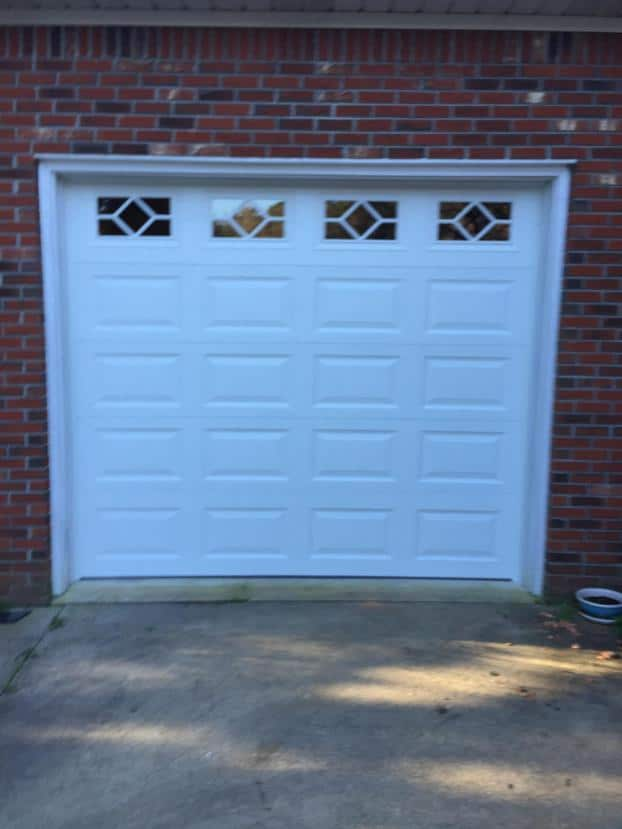 Small residential garage door
