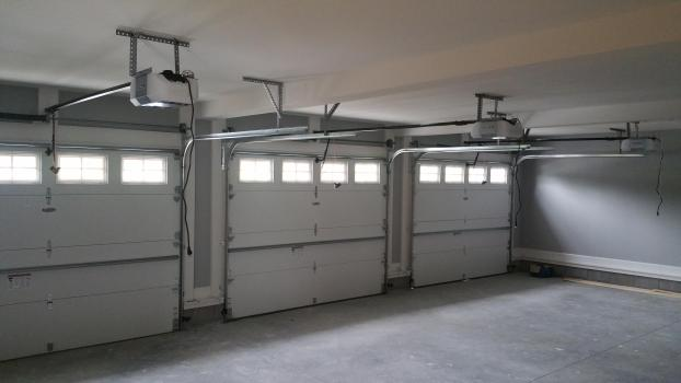 Inside of a 3 car garage
